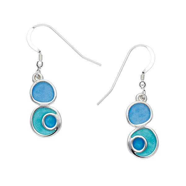 Sterling silver lagoon earrings
