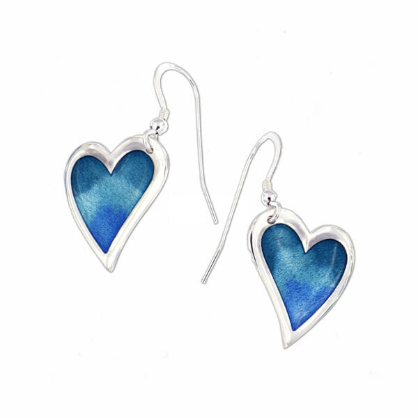 St Justin Silver Kara enamelled drop earrings