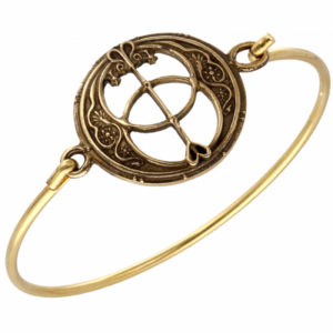 Bronze Chalice Well clip bangle