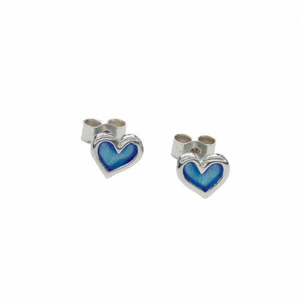 Sterling silver Kara heart stud earrings