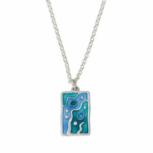 Silver Glas Mor Small Rock Pool enamelled pendant