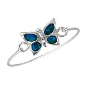Butterfly enamelled clip bangle