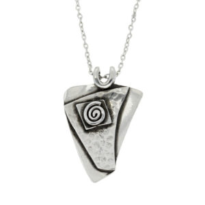 Pewter abstract swirl pendant