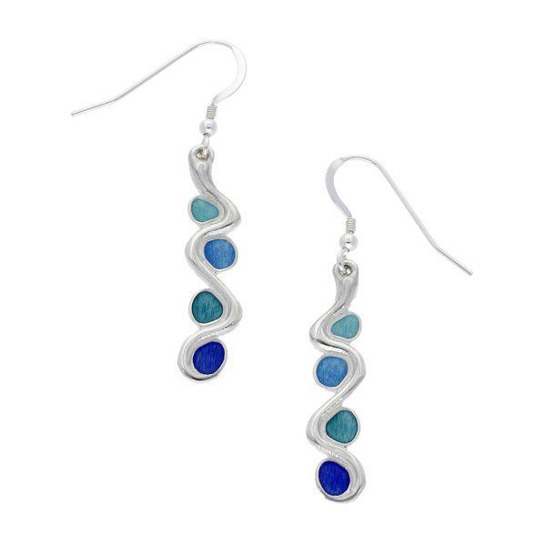 Glas Mor pollow drop earrings