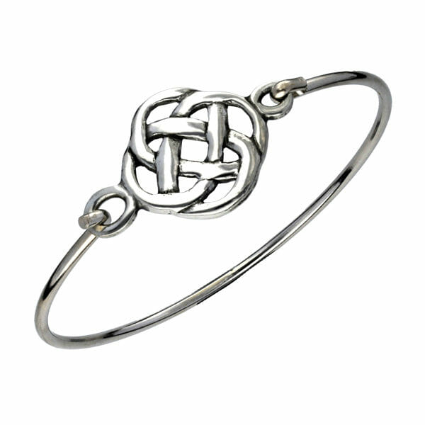 Pewter square knot clip bangle
