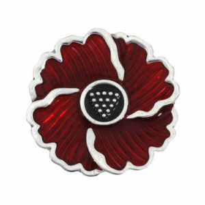Cornish poppy brooch