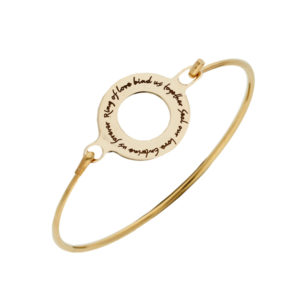Bronze English love clip bangle