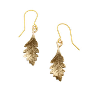 Bronze oak leaf earrings