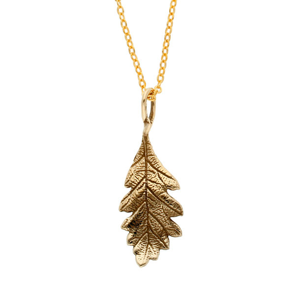 Bronze oak leaf pendant