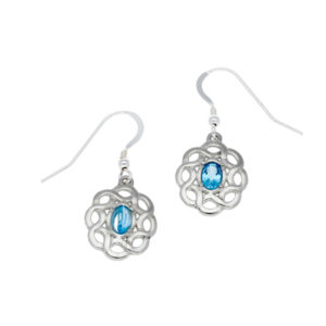 Topaz Celtic knot earrings