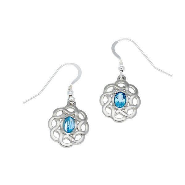 Topaz Celtic knot earrings