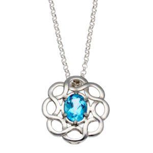 Large Topaz Celtic Knot pendant