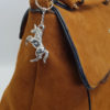 Unicorn handbag charm on bag