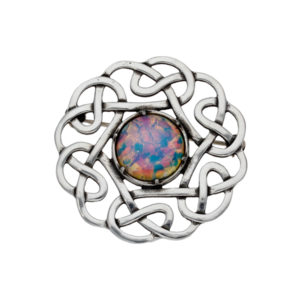 Celtic 6 loop knot brooch