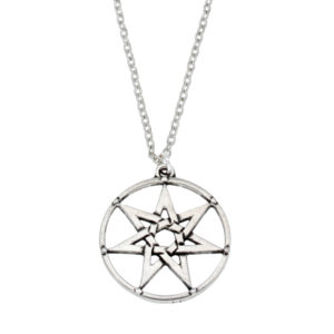 Elven star circle pendant