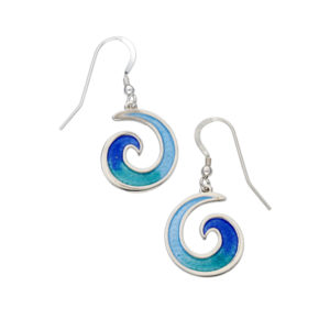 Glas Mor Mordardha enamelled drop earrings