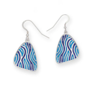 Glas Mor Trig enamelled earrings