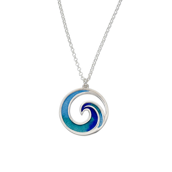 Glas Mor Mordardha enamelled pendant