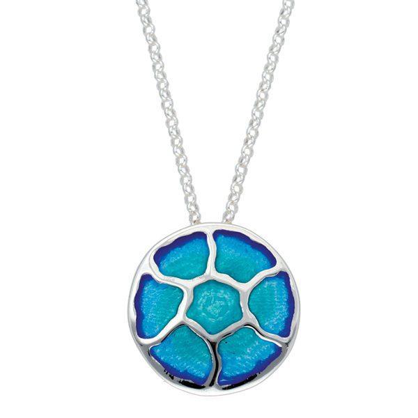 Silver Glas Mor Morgowles enamelled pendant