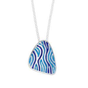 Glas Mor Trig enamelled pendant