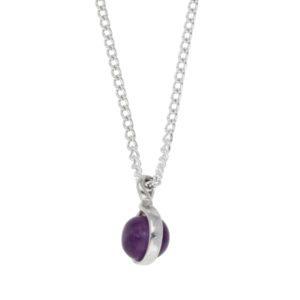 Double sided gemstone pendant