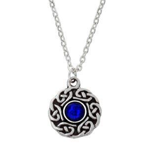 Celtic circle gemstone pendant