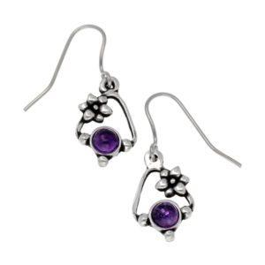 Amethyst Flower Knot earrings