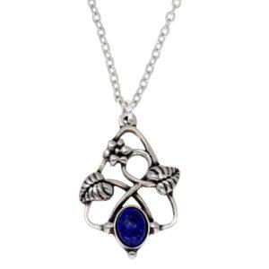 Lapis Flower Knot pendant