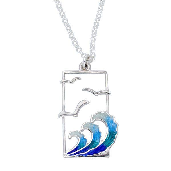 Silver Glas Mor Golanes enamelled pendant