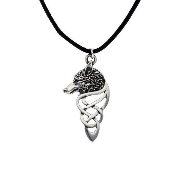 Celtic wolf pendant
