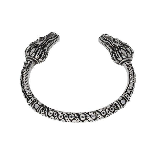 Dragon heads torc bangle