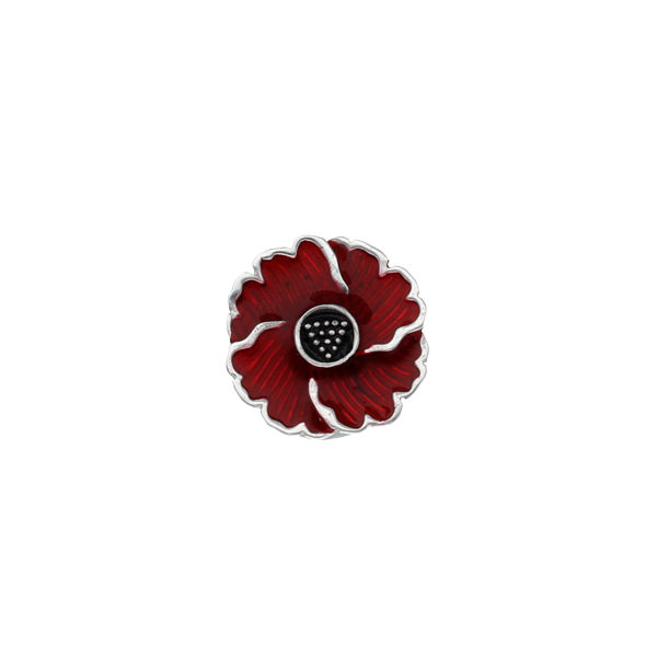Cornish poppy lapel pin