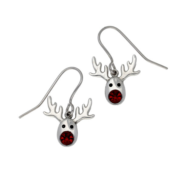 Rudolph crystal drop earrings