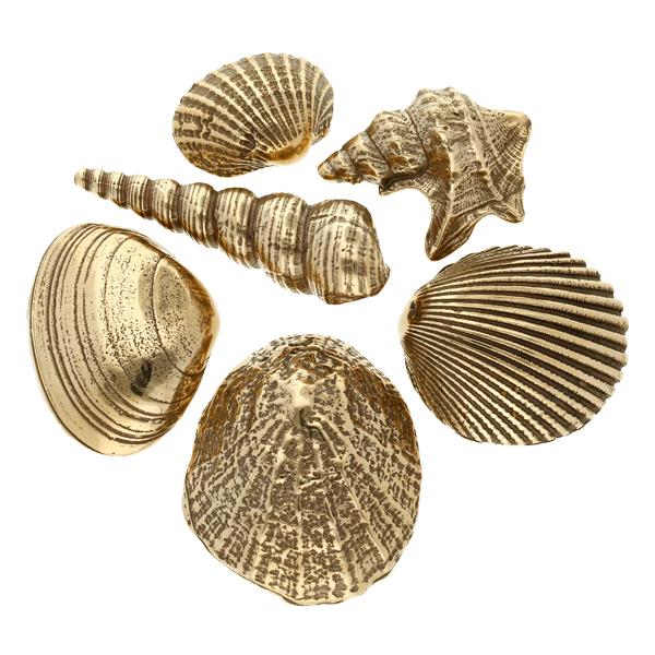 Bronze shells set of six