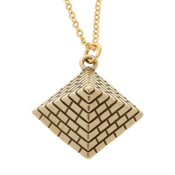Bronze pyramid pendant