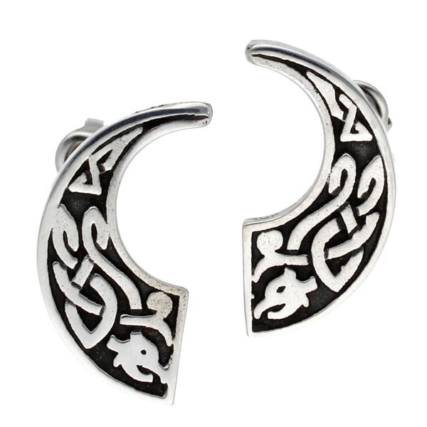 Pewter Celtic beast stud earrings