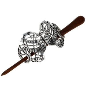 Viking serpent hairslide