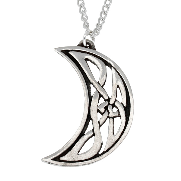 Pewter Celtic moon pendant