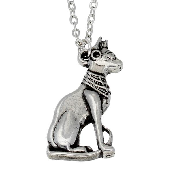 Pewter egyptian cat pendant