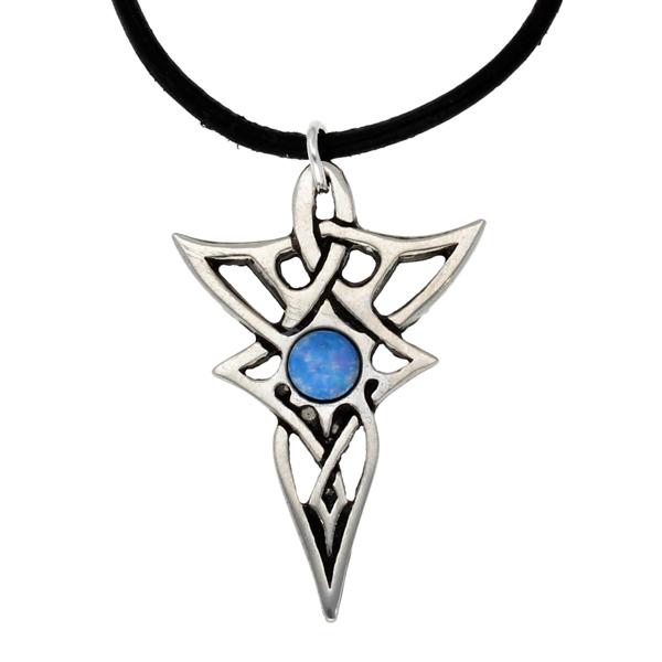 Pewter elven knot pendant