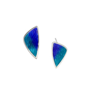 Carrick enamelled stud earrings