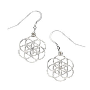 Silver seed of life earrings