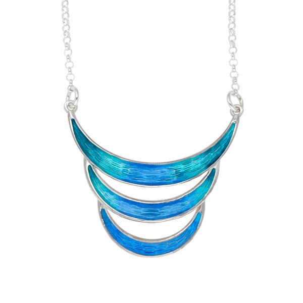 Silver Mortidys enamelled necklace