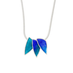 Sterling silver Carrick 3 piece enamelled pendant