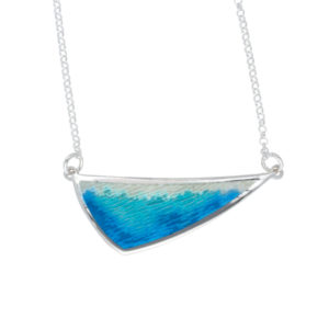 Silver Sloop enamelled necklace