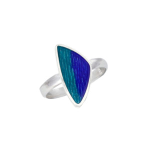 Silver carrick enamelled ring