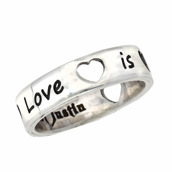 Silver love is all around ring
