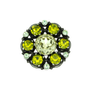 Miracle large round peridot brooch