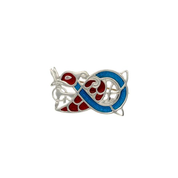 Miracle Celtic bird brooch