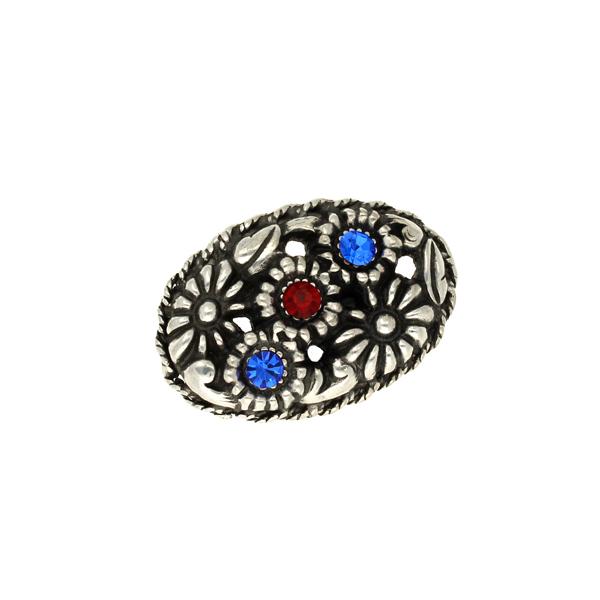 Miracle flower crystal brooch